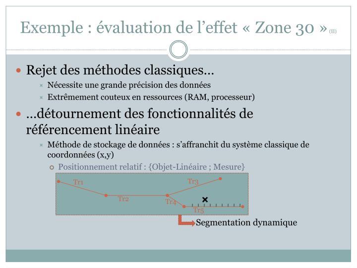 Exemple : évaluation de l'effet «Zone 30»