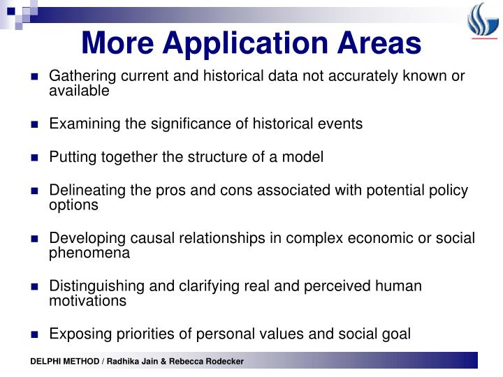 More Application Areas