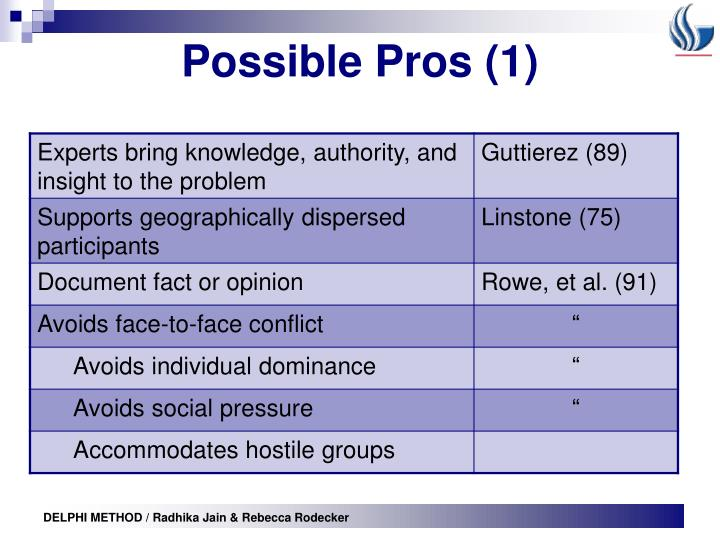 Possible Pros (1)