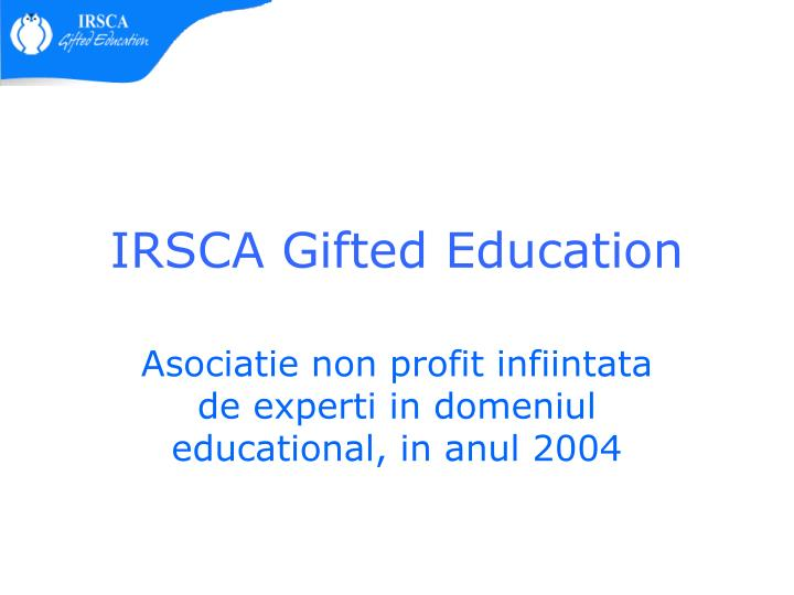 irsca gifted education n.