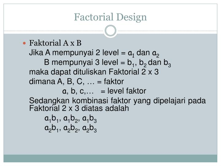 Factorial design1