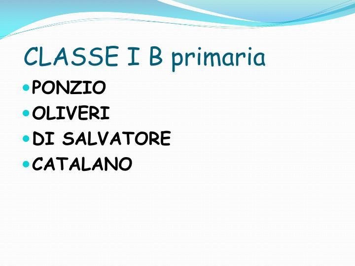 Classe i b primaria