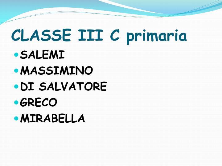 CLASSE III C primaria