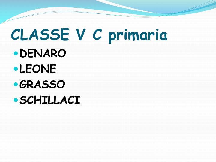 CLASSE V C primaria