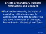 effects of mandatory parental notification and consent