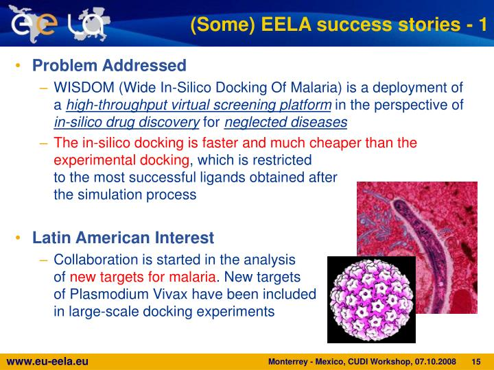 (Some) EELA success stories - 1