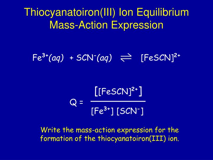 thiocyanatoiron iii complex ion