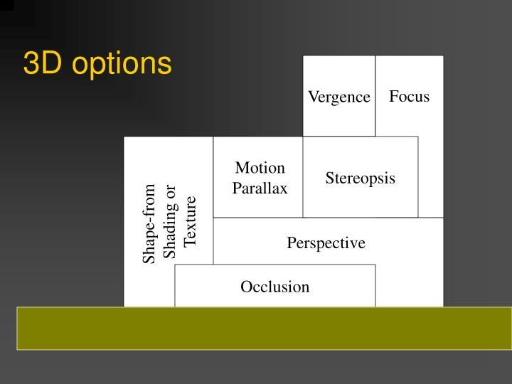 3D options
