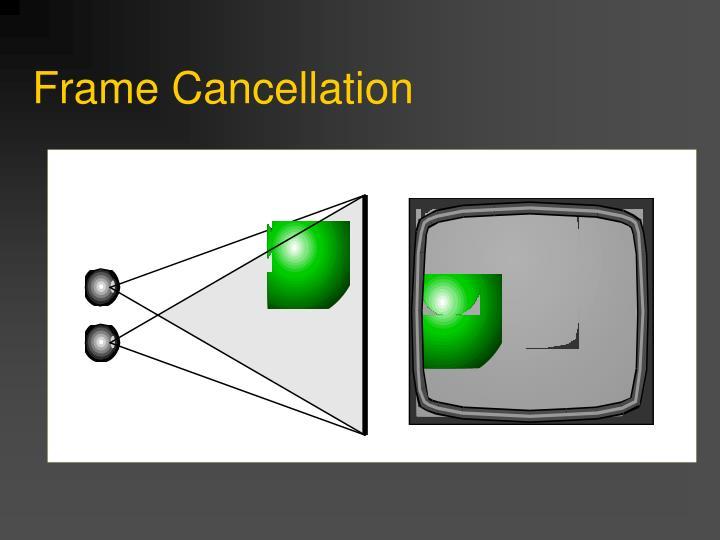 Frame Cancellation