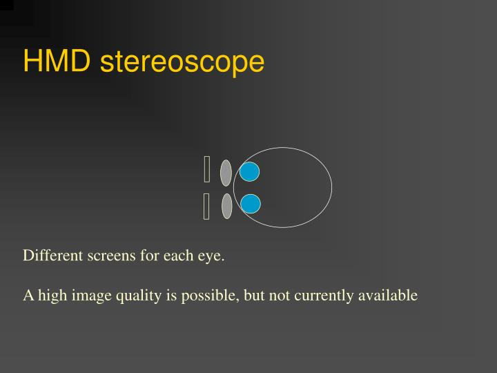 HMD stereoscope