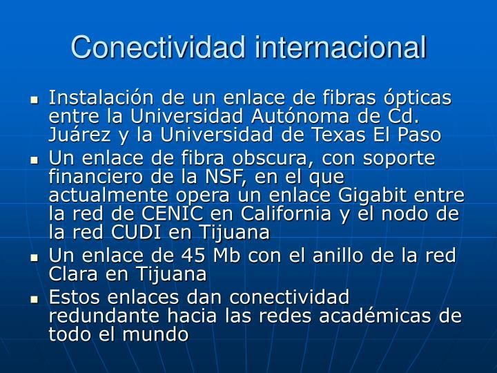Conectividad internacional