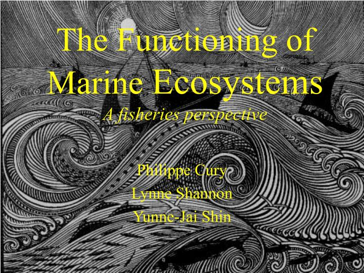 the functioning of marine ecosystems a fisheries perspective n.