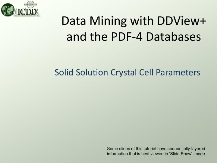 data mining with ddview and the pdf 4 databases