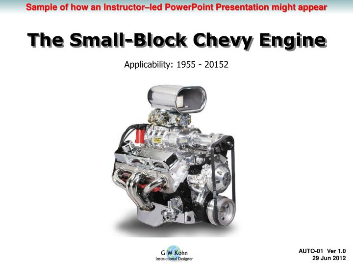 PPT - The Small-Block Chevy Engine PowerPoint Presentation