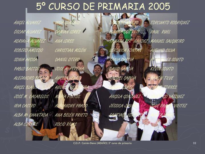 5º CURSO DE PRIMARIA 2005