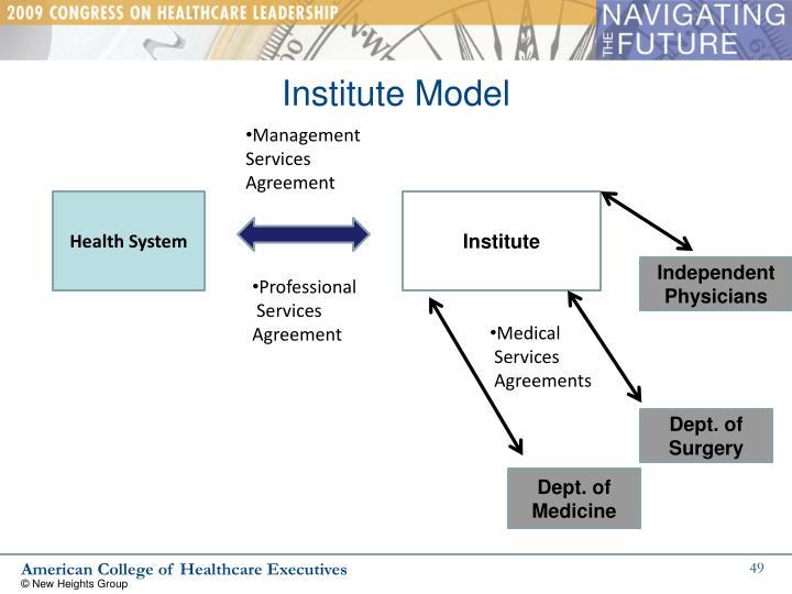 Institute Model