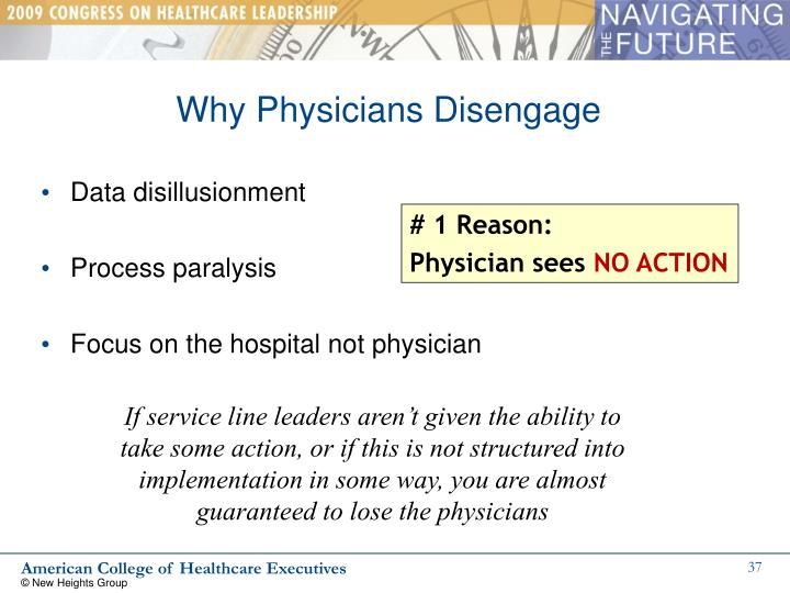 Why Physicians Disengage
