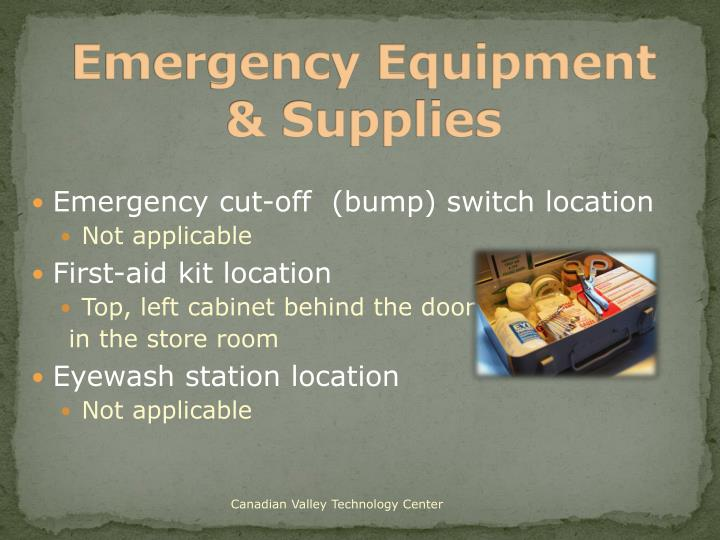 Emergency Equipment & Supplies