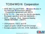 tc204 wg16 cooperation