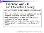 the new web 2 0 and information literacy