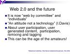 web 2 0 and the future