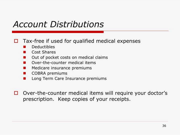 Account Distributions
