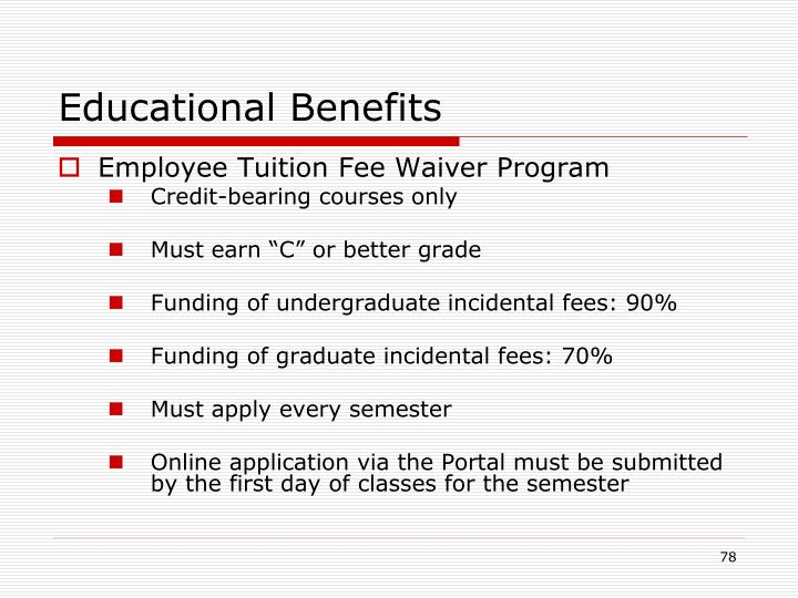 Educational Benefits