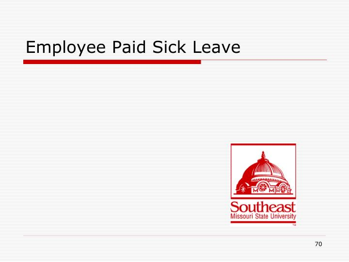 Employee Paid Sick Leave