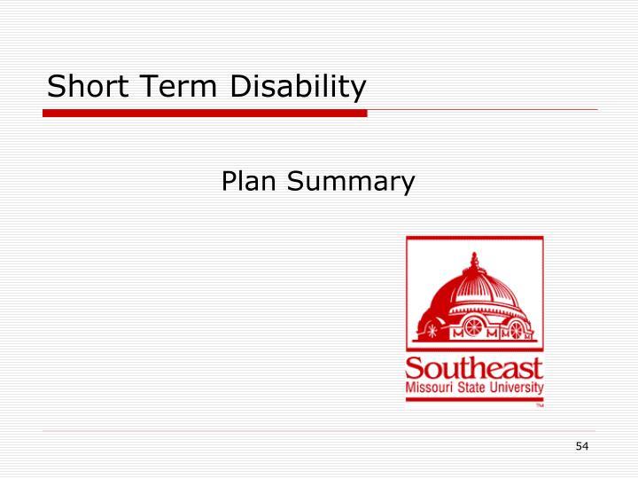Short Term Disability