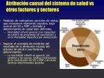 atribuci n causal del sistema de salud vs otros factores y sectores