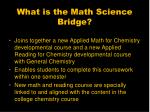 what is the math science bridge
