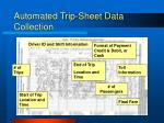 automated trip sheet data collection