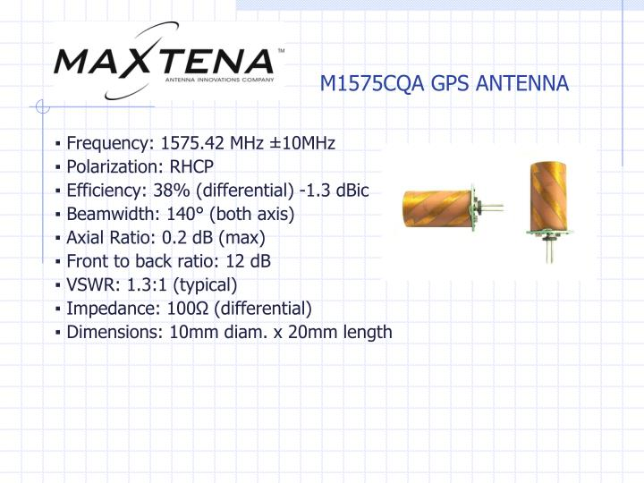M1575CQA GPS ANTENNA