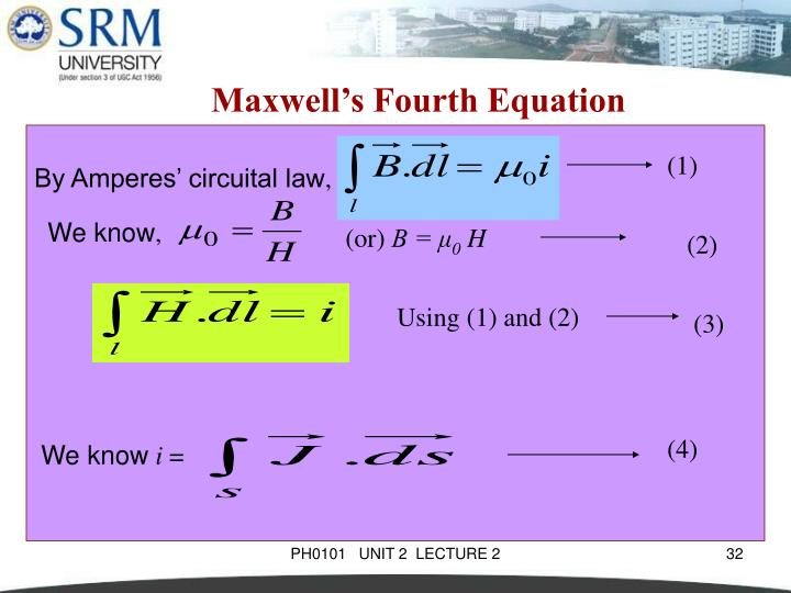 Maxwell's Fourth Equation