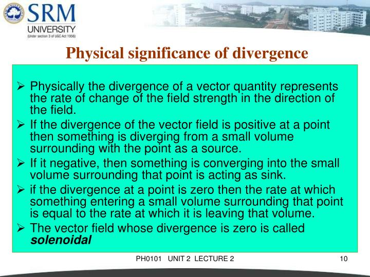 Physical significance of divergence