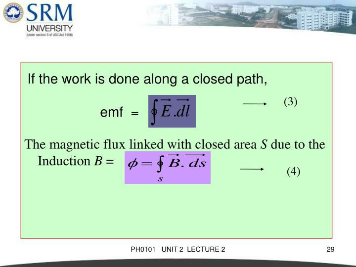 The magnetic flux linked with closed area