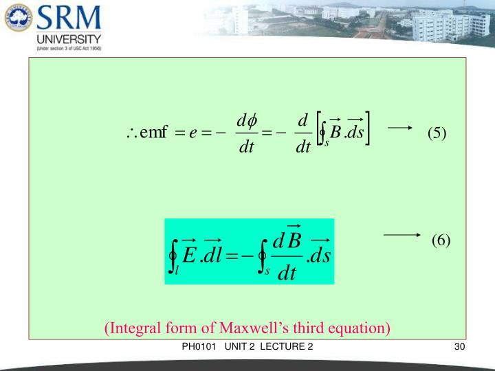 (Integral form of Maxwell's third equation)