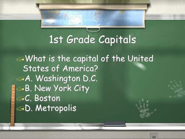 1st Grade Capitals