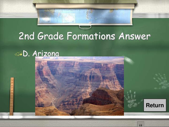 2nd Grade Formations Answer