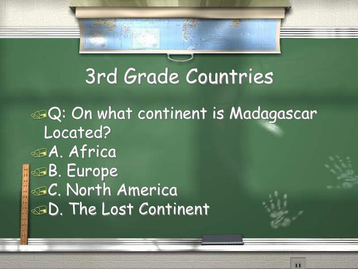 3rd Grade Countries