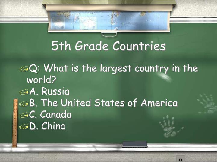5th Grade Countries