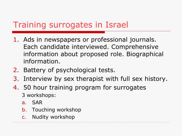 Training surrogates in Israel