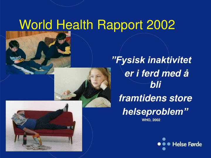 World Health Rapport 2002