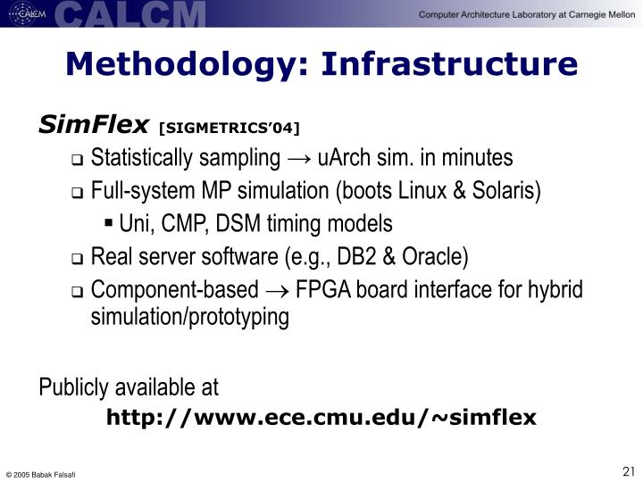 Methodology: Infrastructure