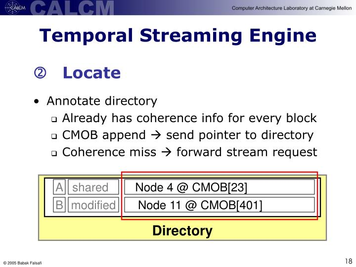 Temporal Streaming Engine