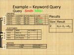 example keyword query1