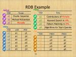 rdb example