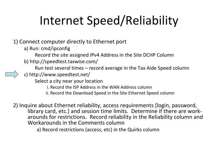 Internet Speed/Reliability
