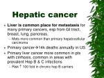 hepatic cancer