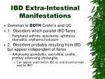ibd extra intestinal manifestations